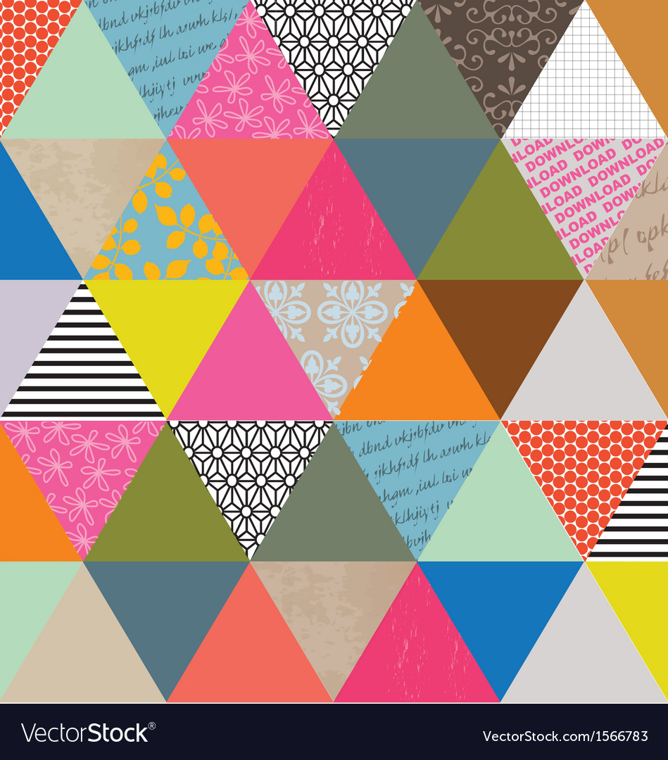 Triangle pattern vector | Price: 1 Credit (USD $1)