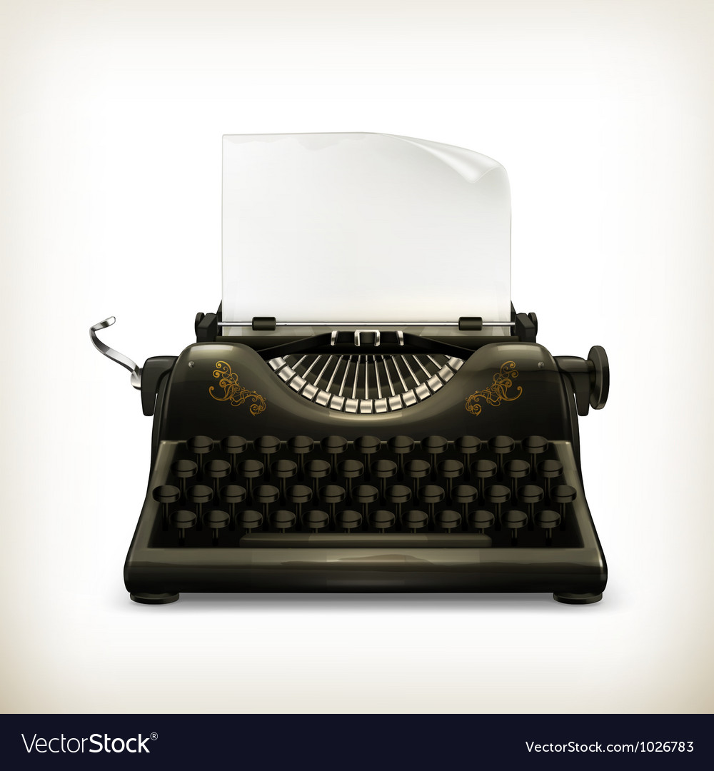 Typewriter vector | Price: 3 Credit (USD $3)
