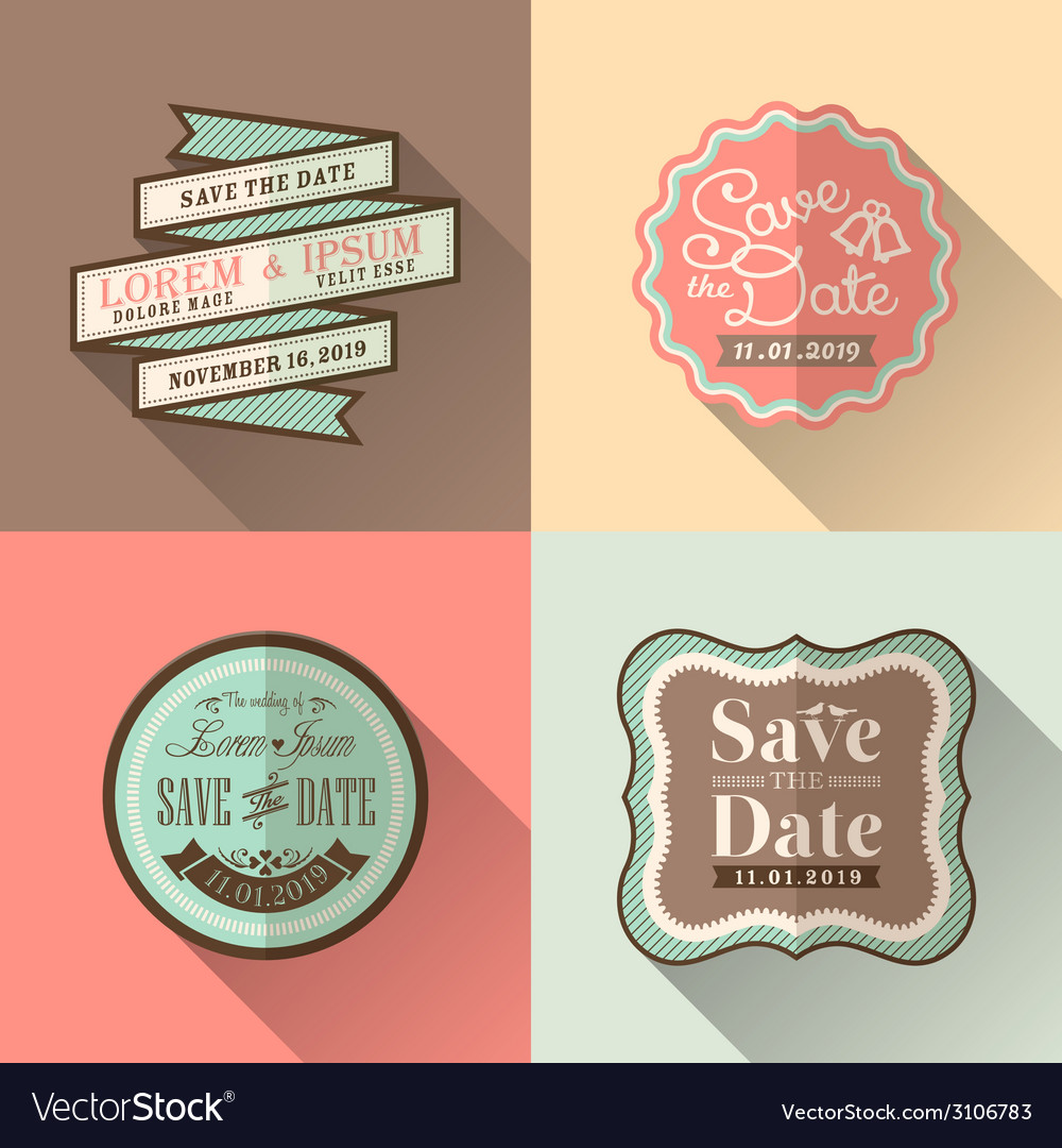 Vintage retro wedding border and frames vector | Price: 1 Credit (USD $1)