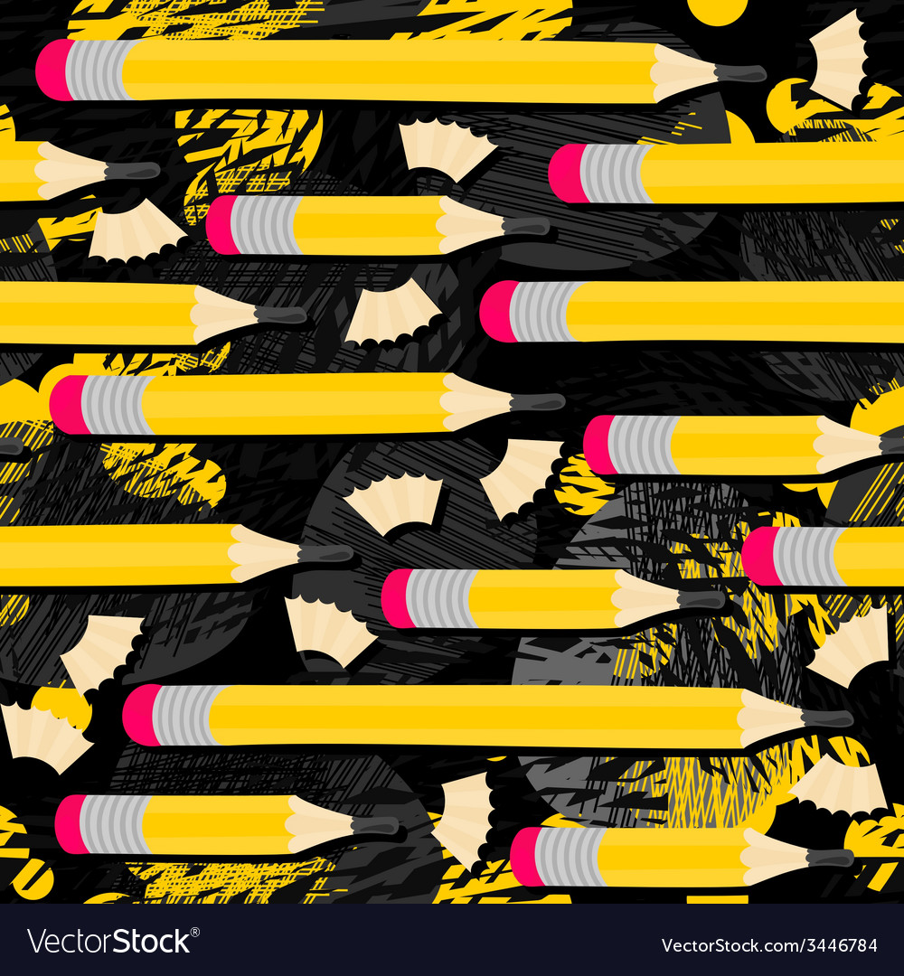 Back to school pencil pattern vector | Price: 1 Credit (USD $1)