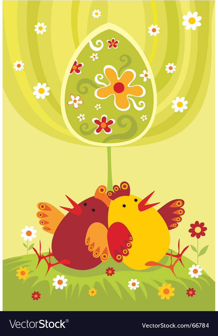 Chickens vector | Price: 1 Credit (USD $1)