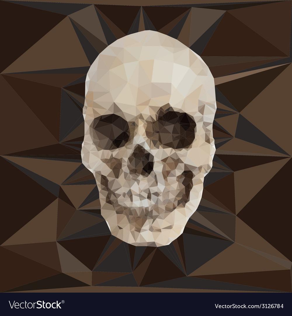 Geometric triangular of human skull vector | Price: 1 Credit (USD $1)