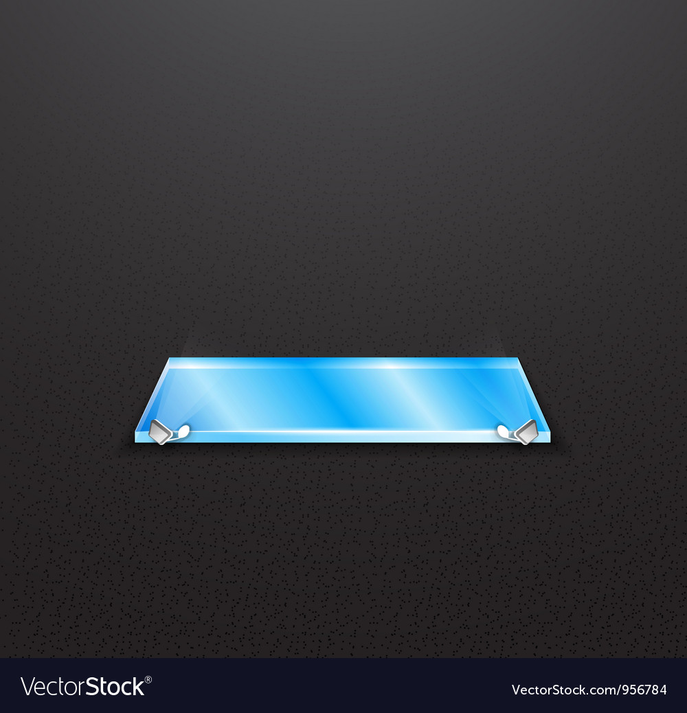 Glass empty exhibition shelf with floodlights vector | Price: 1 Credit (USD $1)