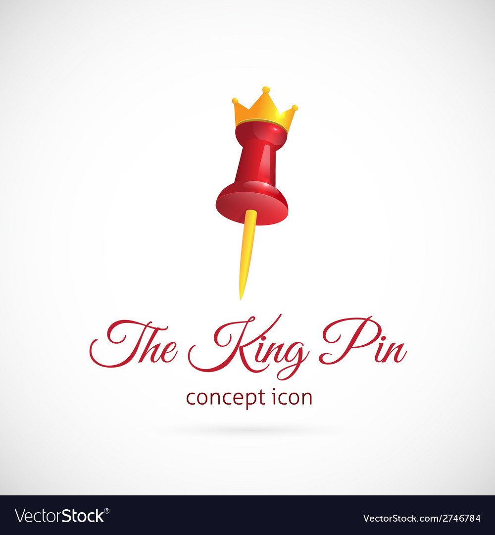 King pin abstract symbol icon vector | Price: 1 Credit (USD $1)
