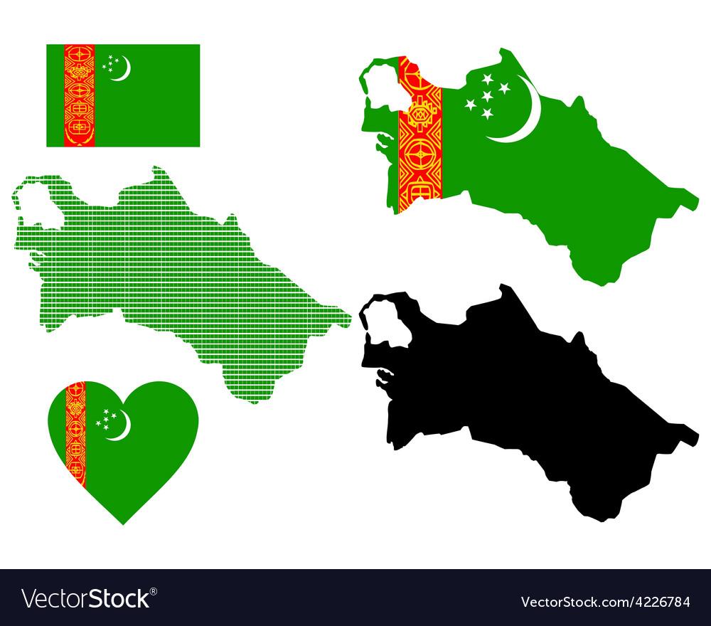 Map of turkmenistan vector | Price: 1 Credit (USD $1)