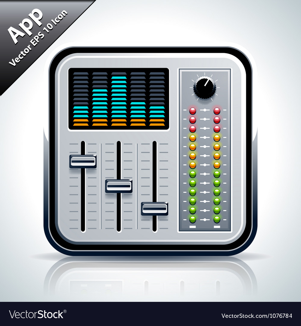 Mixer musical app icon vector | Price: 3 Credit (USD $3)
