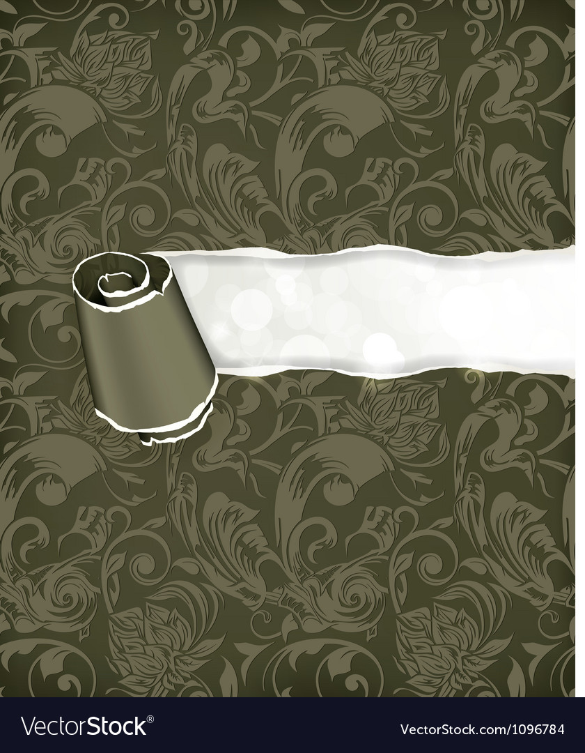 Torn paper wallpaper background vector | Price: 1 Credit (USD $1)