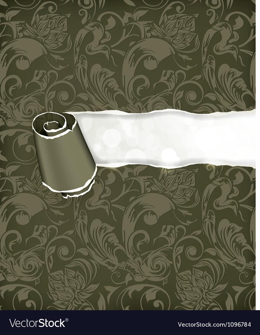 Torn paper wallpaper background vector | Price: 1 Credit (USD $1)