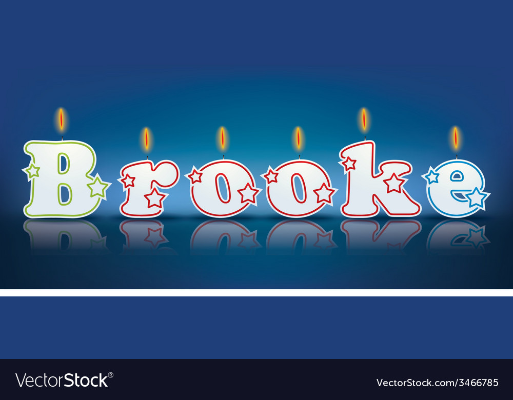 Brooke written with burning candles vector | Price: 1 Credit (USD $1)