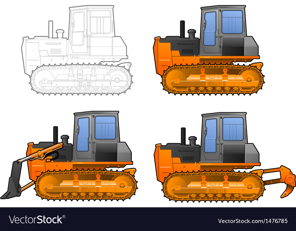 Catterpillar tractor vector | Price: 1 Credit (USD $1)
