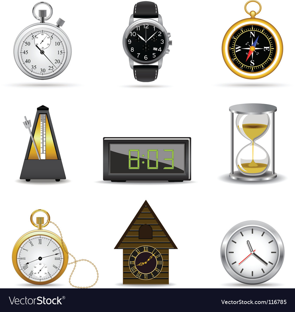 Clocks and timers vector | Price: 1 Credit (USD $1)