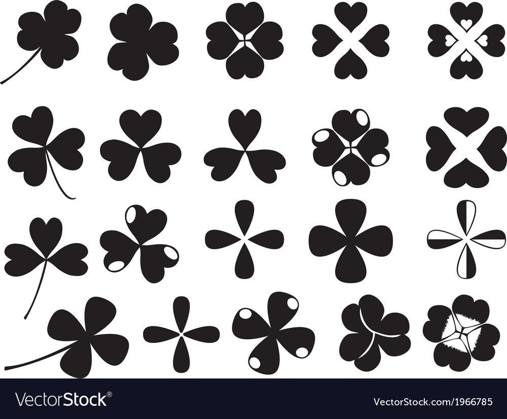 Clover collection vector | Price: 1 Credit (USD $1)