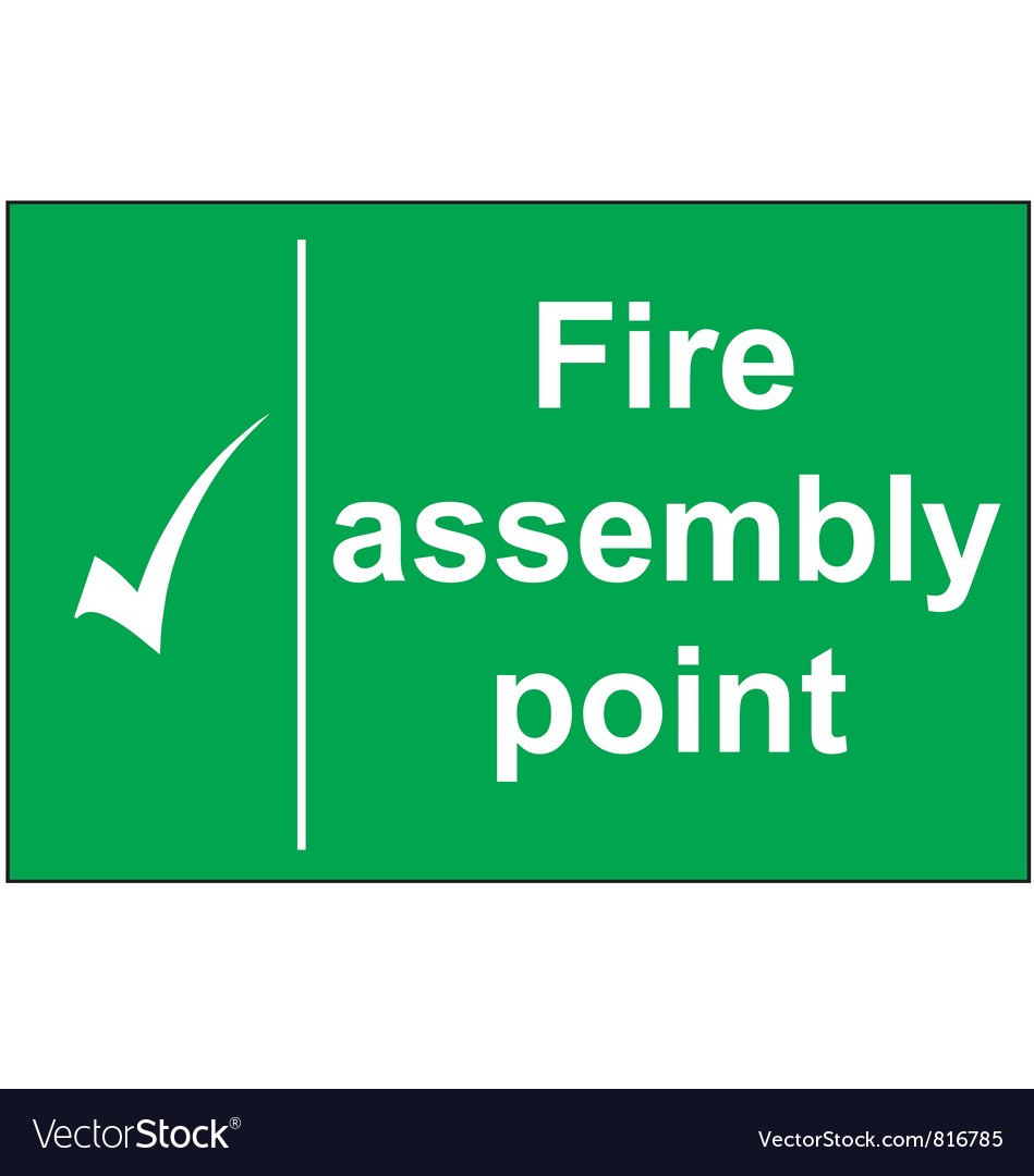 Fire assembly point sign vector | Price: 1 Credit (USD $1)