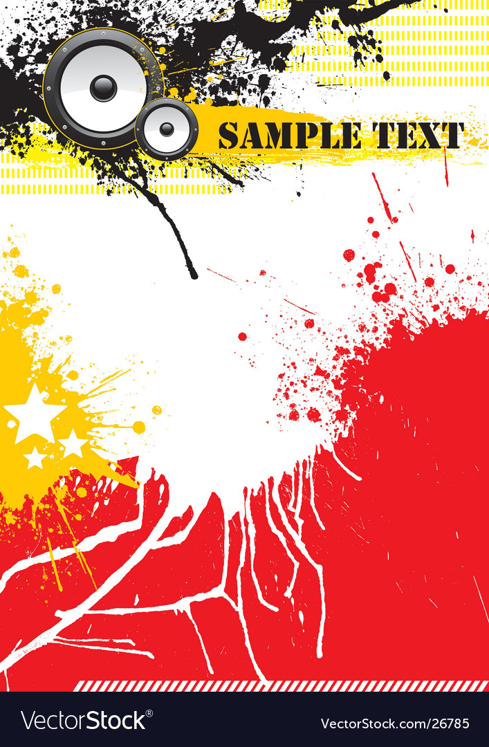 Grunge music poster design vector | Price: 1 Credit (USD $1)