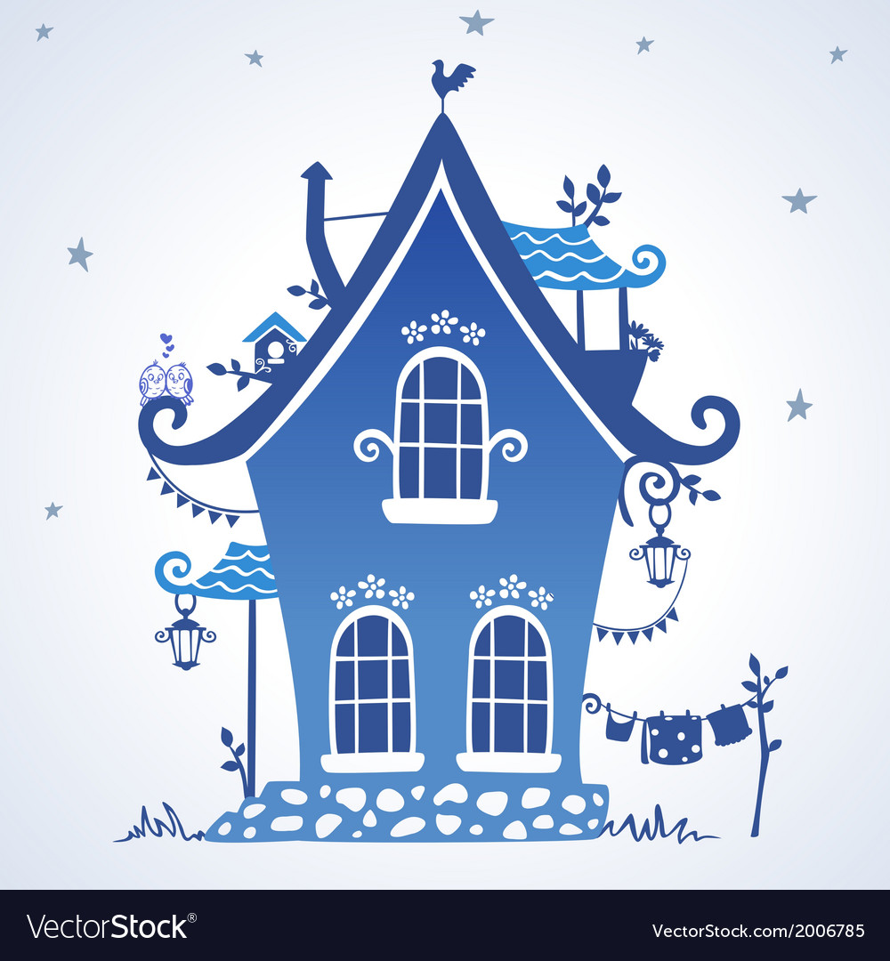 Houses silhouette vector | Price: 1 Credit (USD $1)
