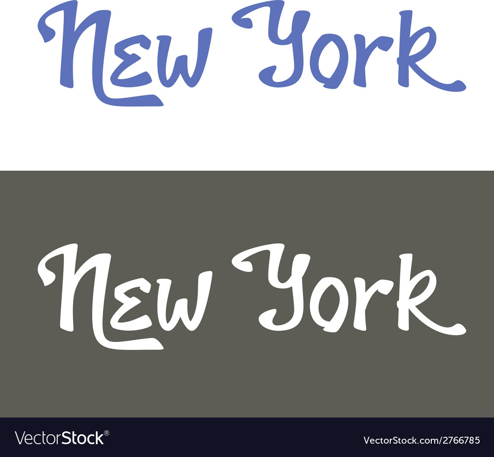 New york hand lettering vector | Price: 1 Credit (USD $1)