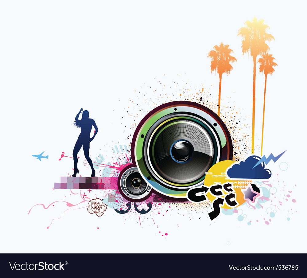 illustration of grunge abstract party backg vector | Price: 1 Credit (USD $1)