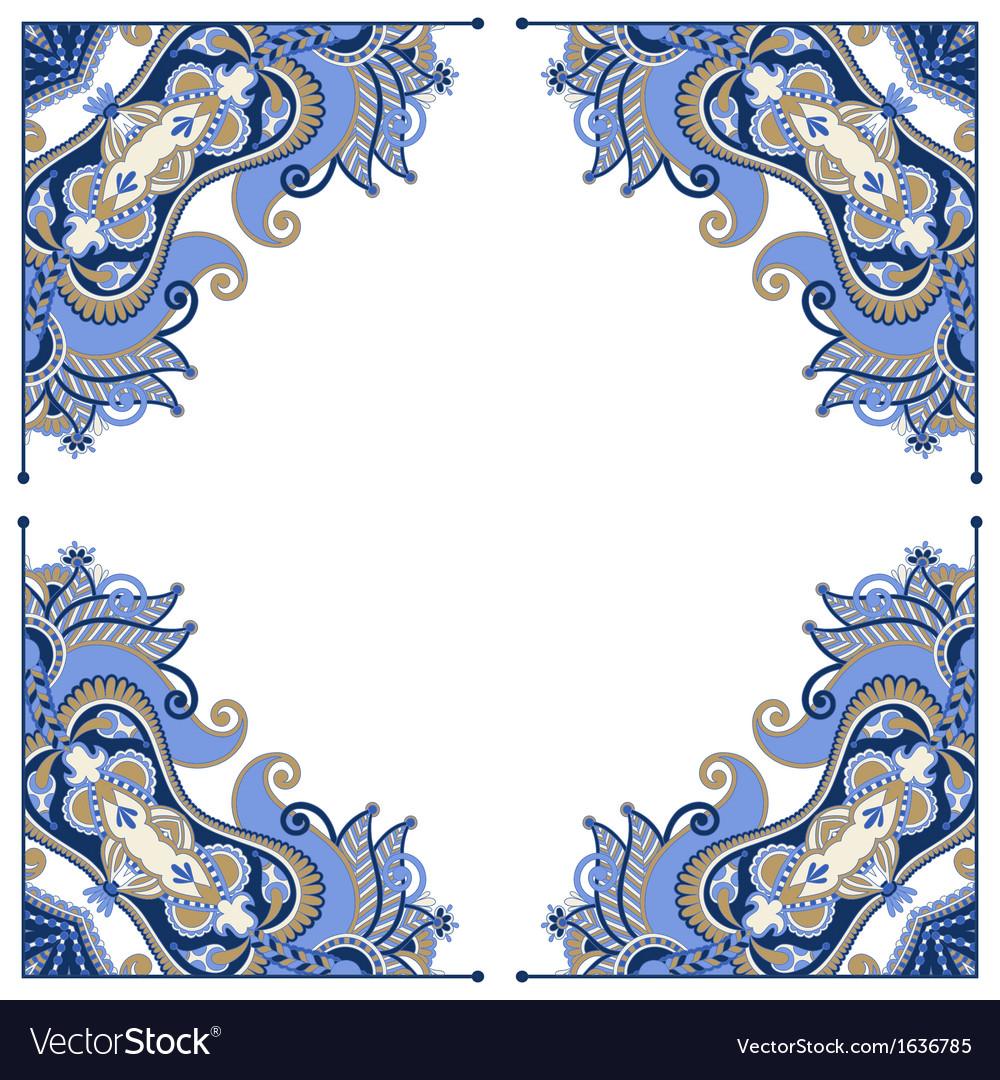 Ornate floral frame vector | Price: 1 Credit (USD $1)