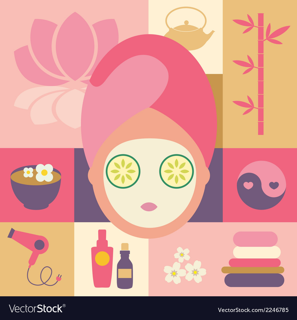 Spa and beauty- face vector | Price: 1 Credit (USD $1)