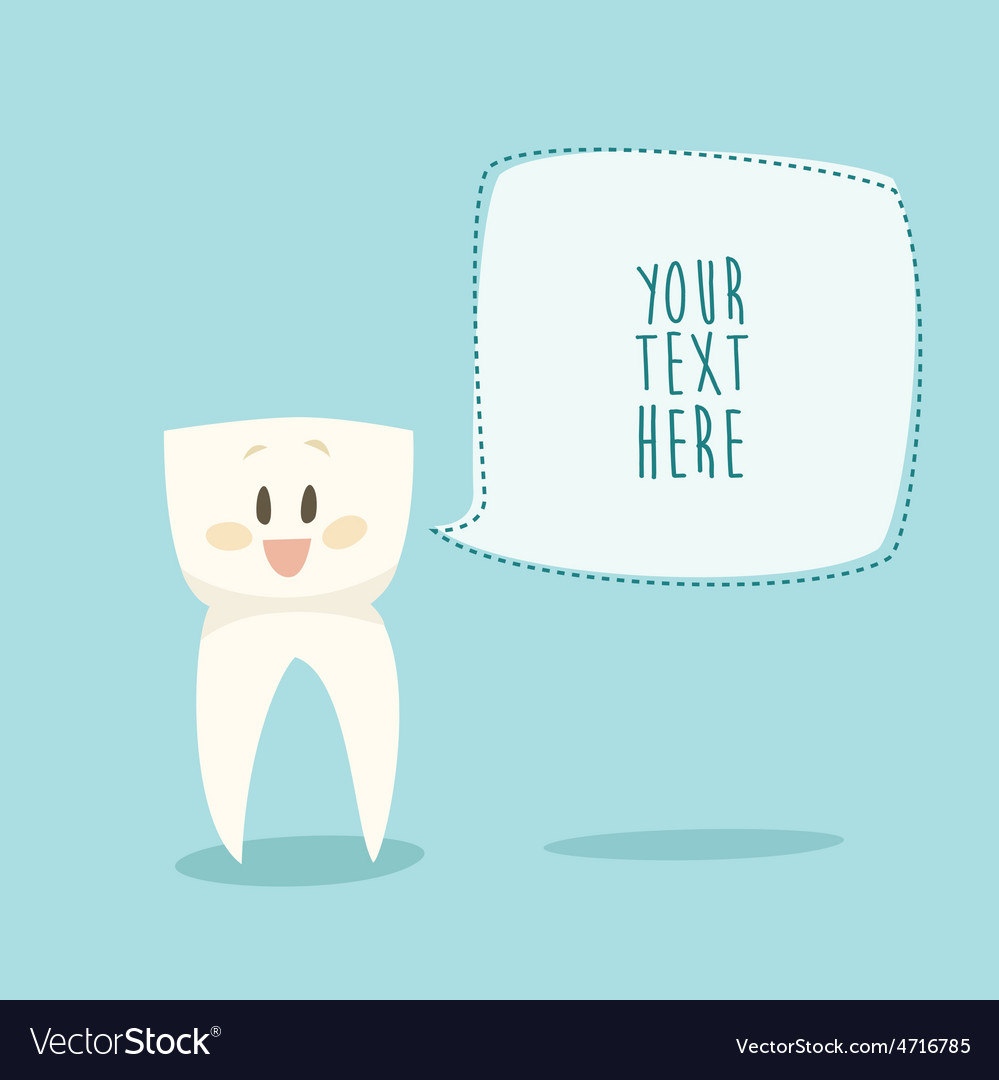 Stomatologist signboard funny tooth concept vector | Price: 1 Credit (USD $1)