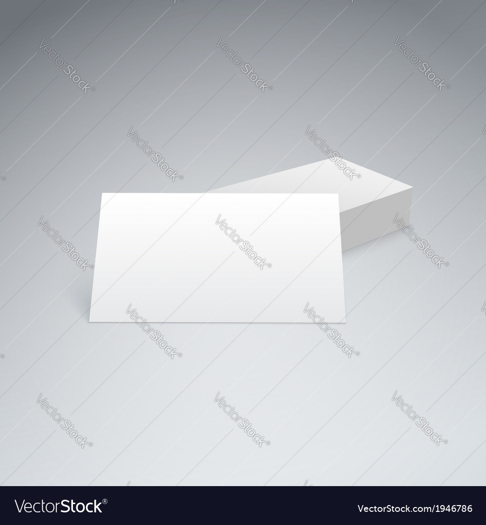 Business cards isolated with soft shadow vector | Price: 1 Credit (USD $1)