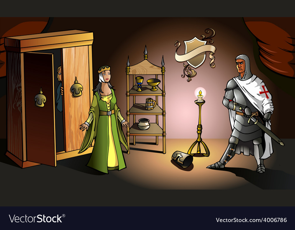Crusader returns from holy land vector | Price: 3 Credit (USD $3)