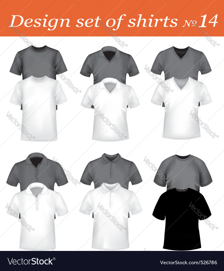 Design shirt set 14 vector | Price: 1 Credit (USD $1)