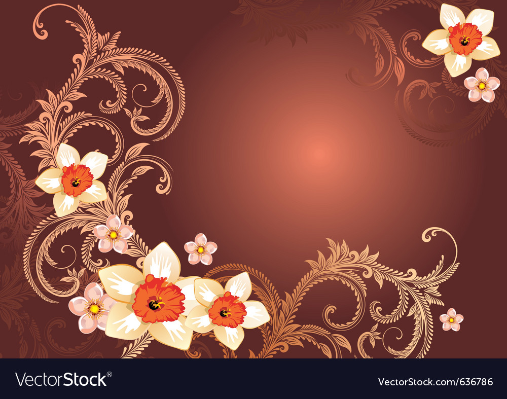 Elegant floral backgorund vector | Price: 1 Credit (USD $1)