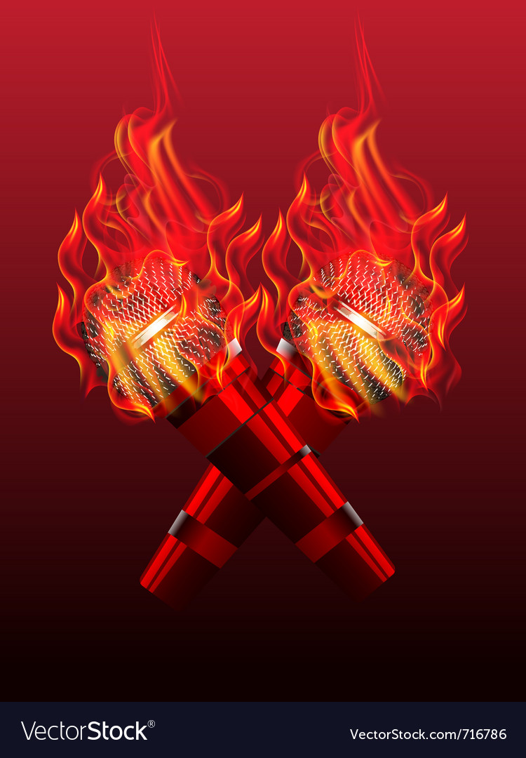 Fire microphone vector