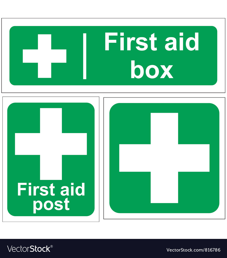 First aid signs vector | Price: 1 Credit (USD $1)