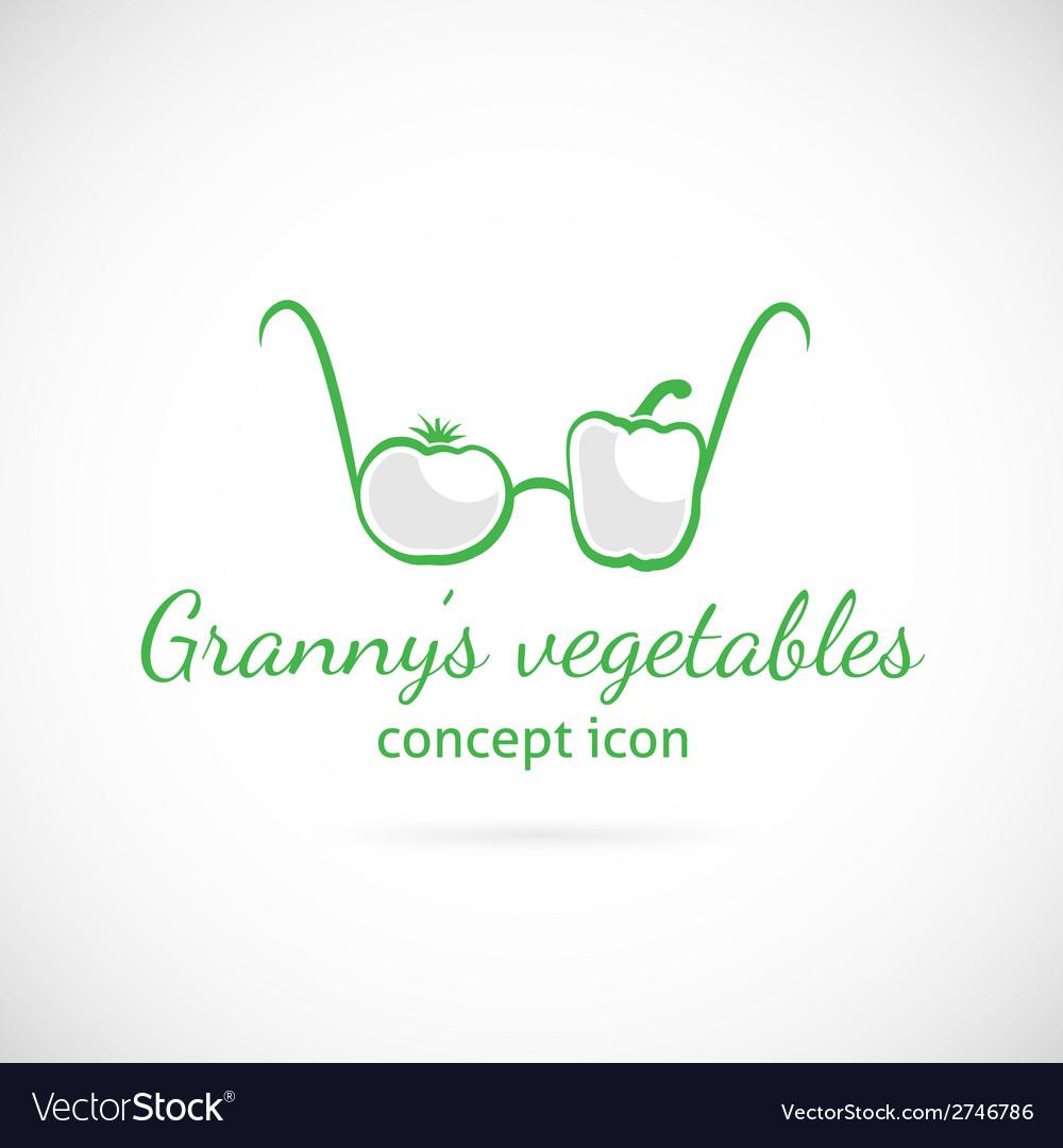 Grannys vegetables concept symbol icon vector | Price: 1 Credit (USD $1)