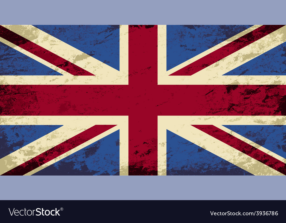 Great britain flag grunge background vector | Price: 1 Credit (USD $1)