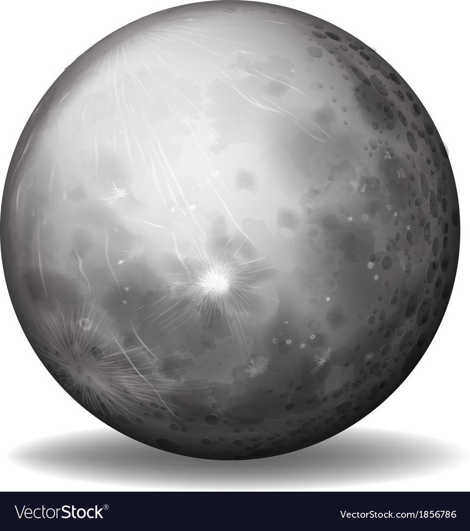 Planet mercury vector | Price: 1 Credit (USD $1)