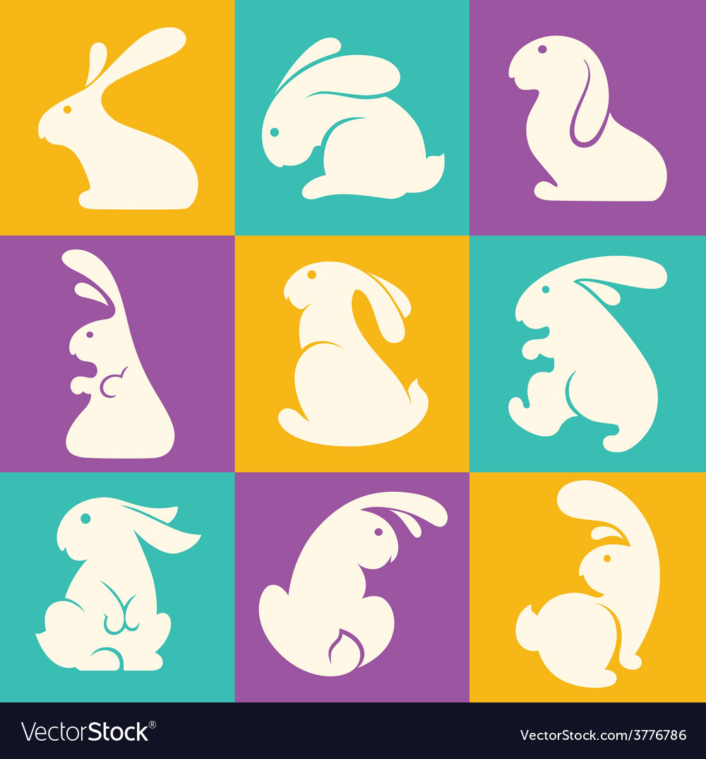 Rabbit collection vector | Price: 1 Credit (USD $1)