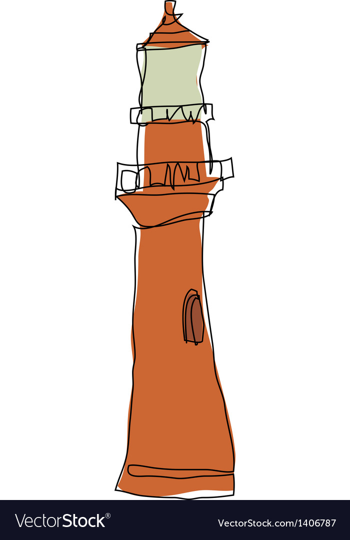 A view of light house vector