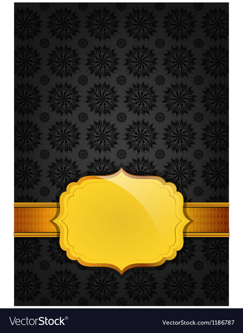 Black abstract texture and golden ribbon vector | Price: 1 Credit (USD $1)