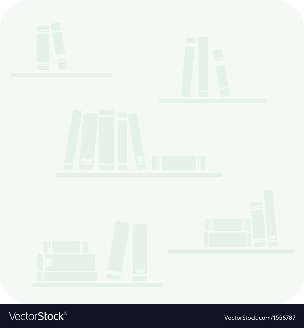 Books on the shelves hipster mint green button vector | Price: 1 Credit (USD $1)