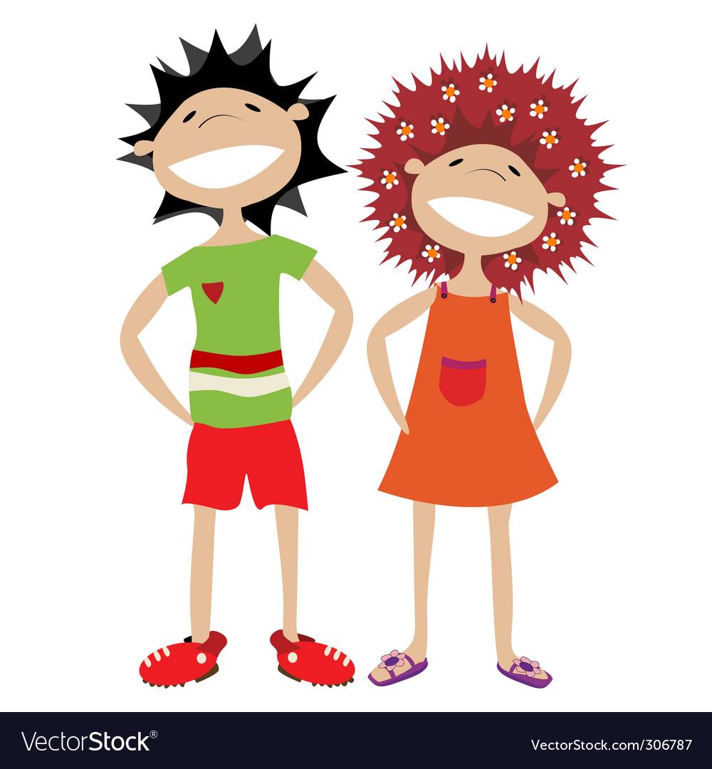 Cartoon kids vector | Price: 1 Credit (USD $1)