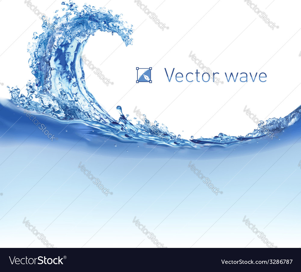 Cool water wave vector | Price: 1 Credit (USD $1)