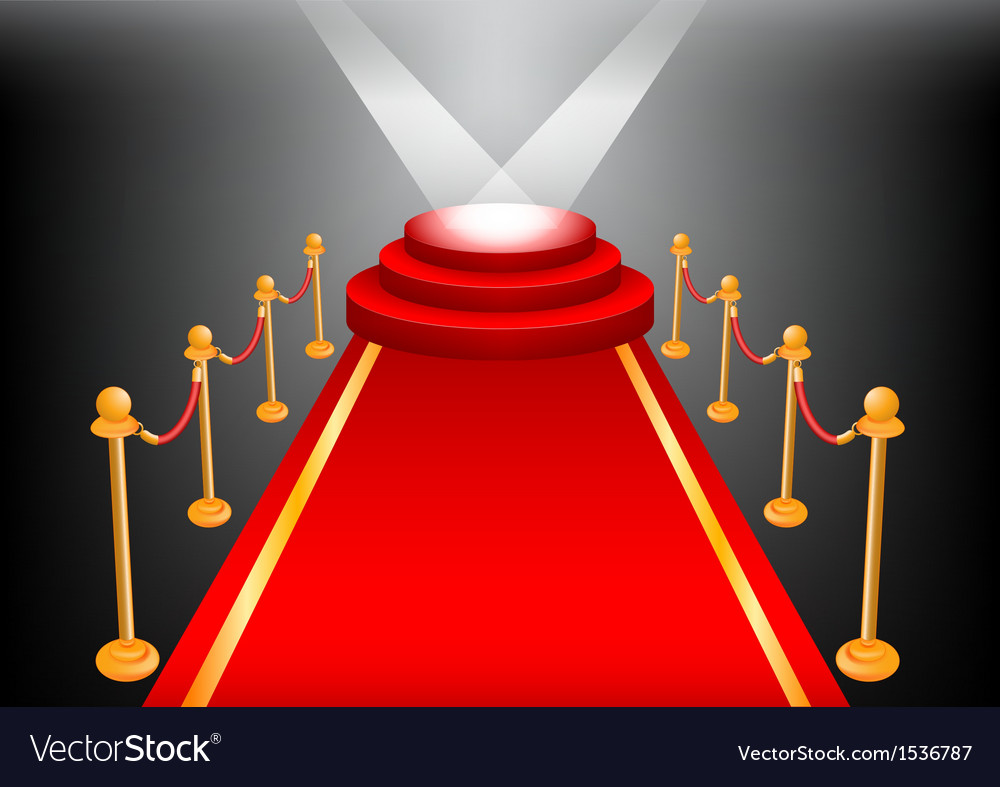 Empty stage with red carpet vector | Price: 1 Credit (USD $1)