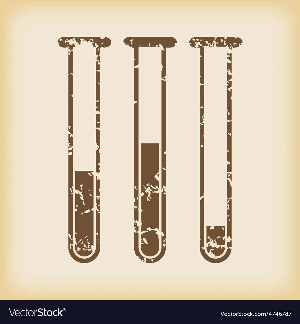 Grungy test-tubes icon vector | Price: 1 Credit (USD $1)