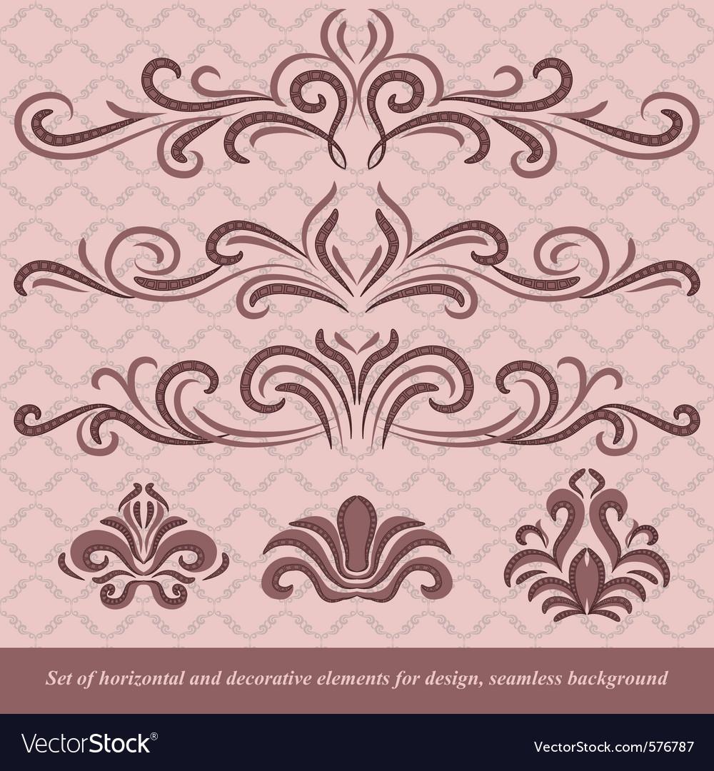 Horizontal elements decoration vector   Price: 1 Credit (USD $1)