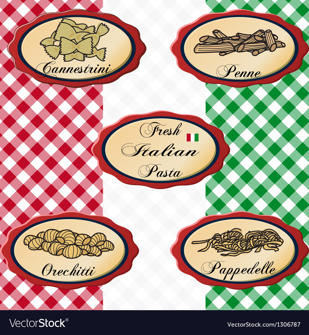 Italian pasta vector | Price: 1 Credit (USD $1)