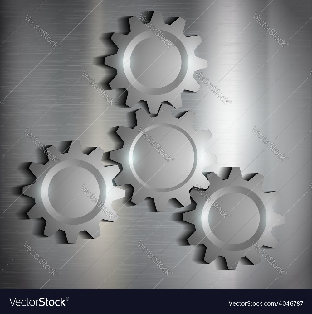 Metal background with gears vector | Price: 1 Credit (USD $1)