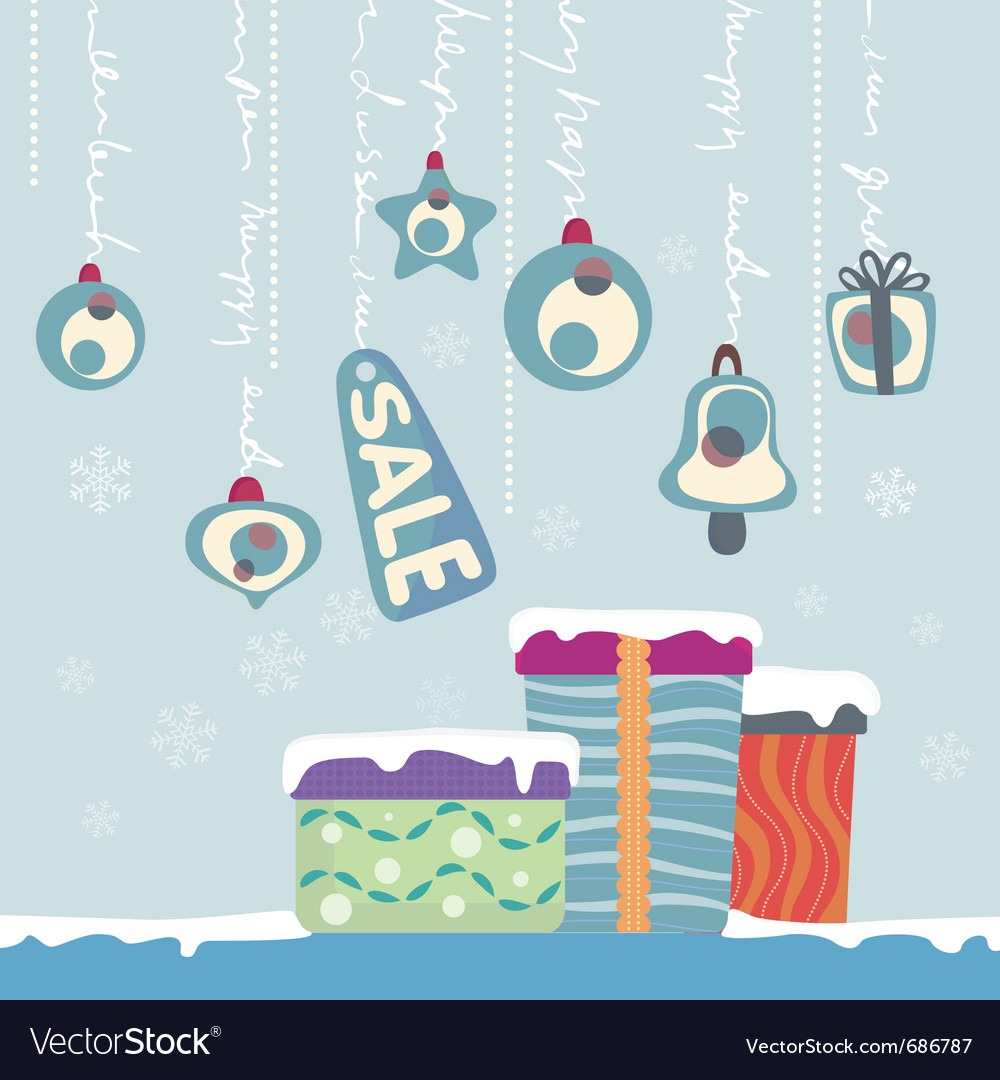 New year gifts vector | Price: 1 Credit (USD $1)