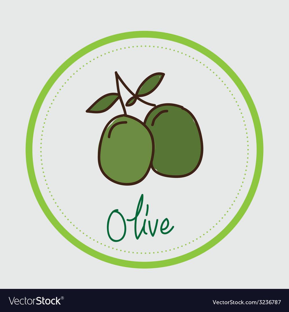Olive design vector | Price: 1 Credit (USD $1)