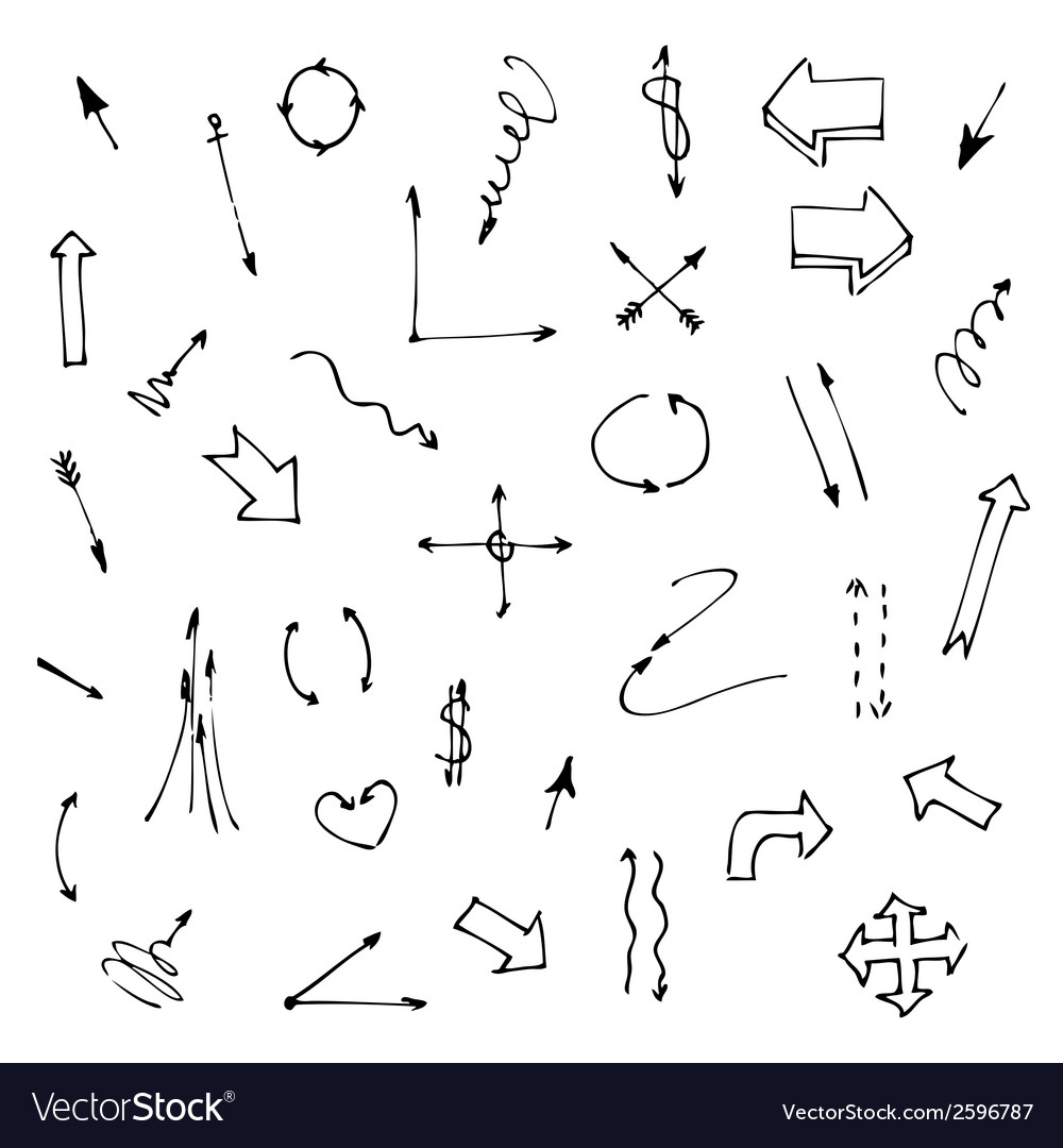 Set of various graphic arrows on a white vector | Price: 1 Credit (USD $1)