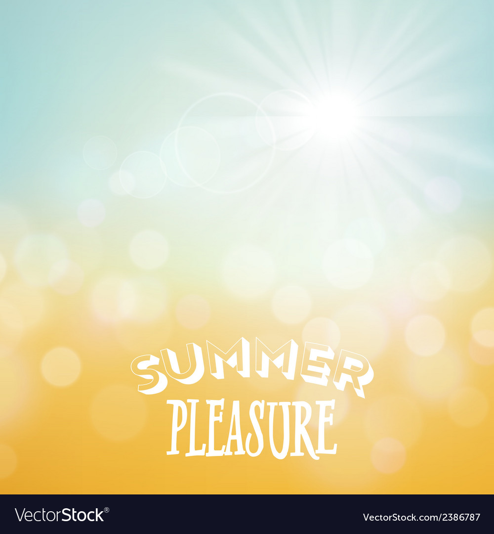 Summer tropical beach background vector   Price: 1 Credit (USD $1)
