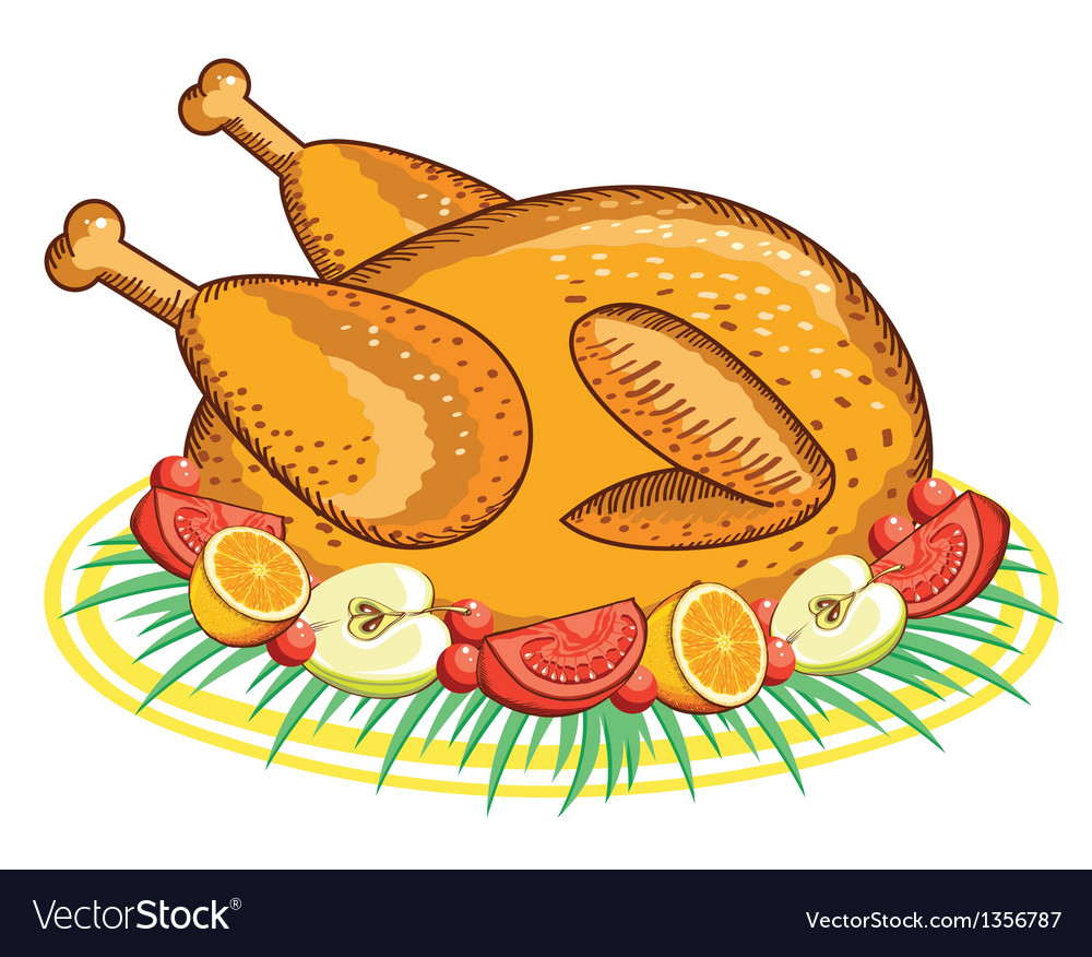 Thanksgiving turkey food vector | Price: 1 Credit (USD $1)