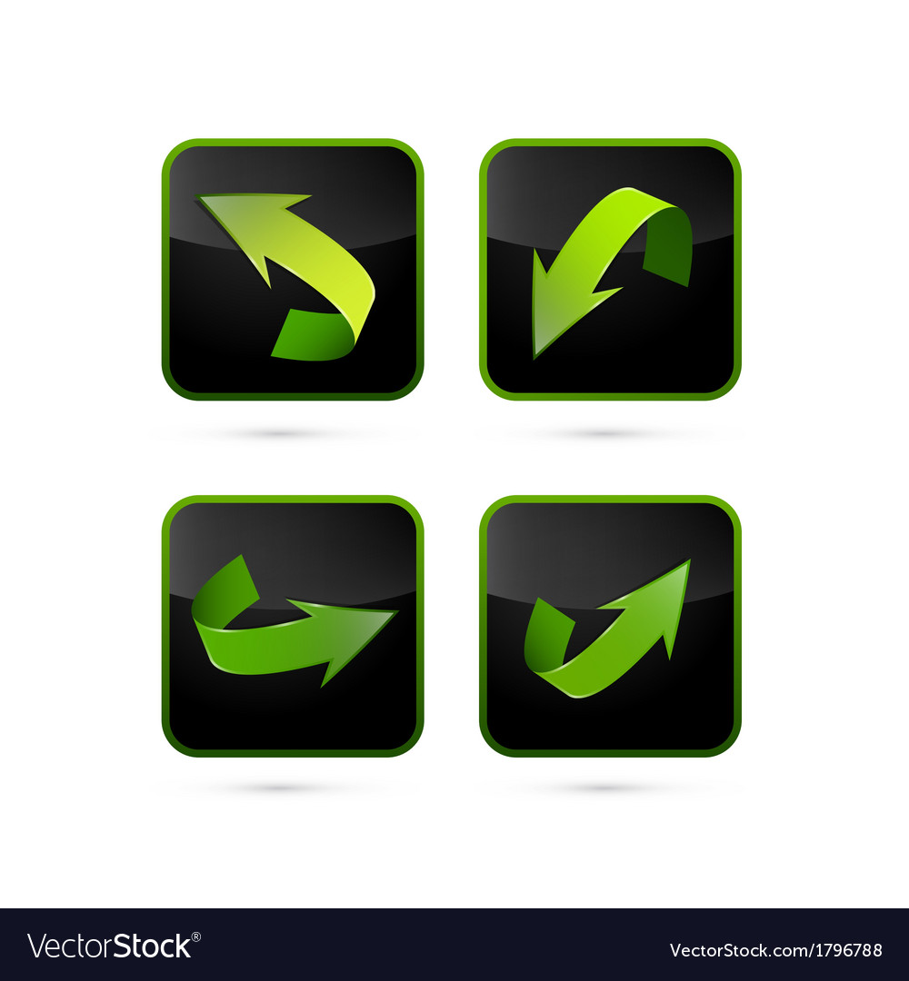 Abstract arrows set vector | Price: 1 Credit (USD $1)